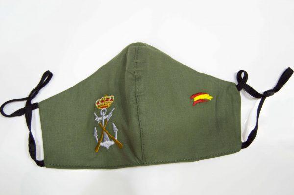 mascarilla higiénica reutilizable de infantería de marina