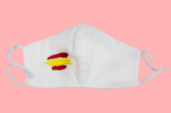 mascarilla higiénica reutilizable bandera España