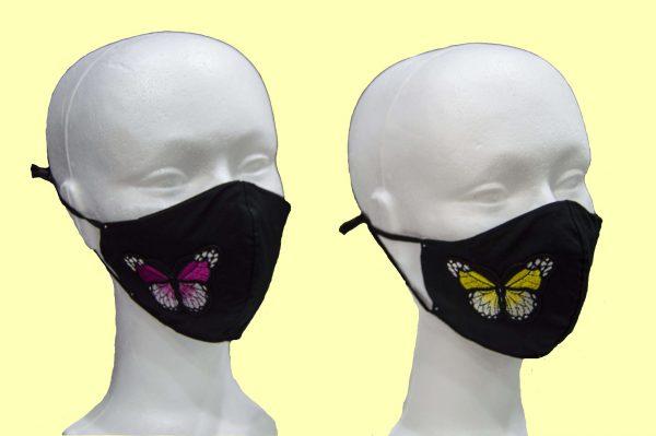 mascarilla higiénica reutilizable mariposa