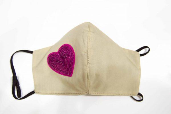mascarilla higiénica reutilizable corazón