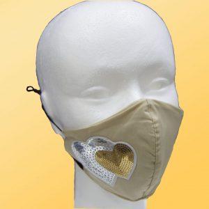 mascarilla higiénica reutilizable corazones