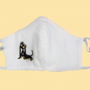 mascarilla higiénica reutilizable perro salchicha